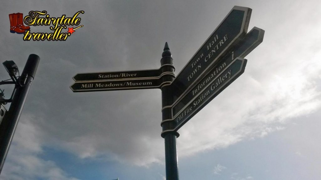 Signs for orientation, in the center of the town