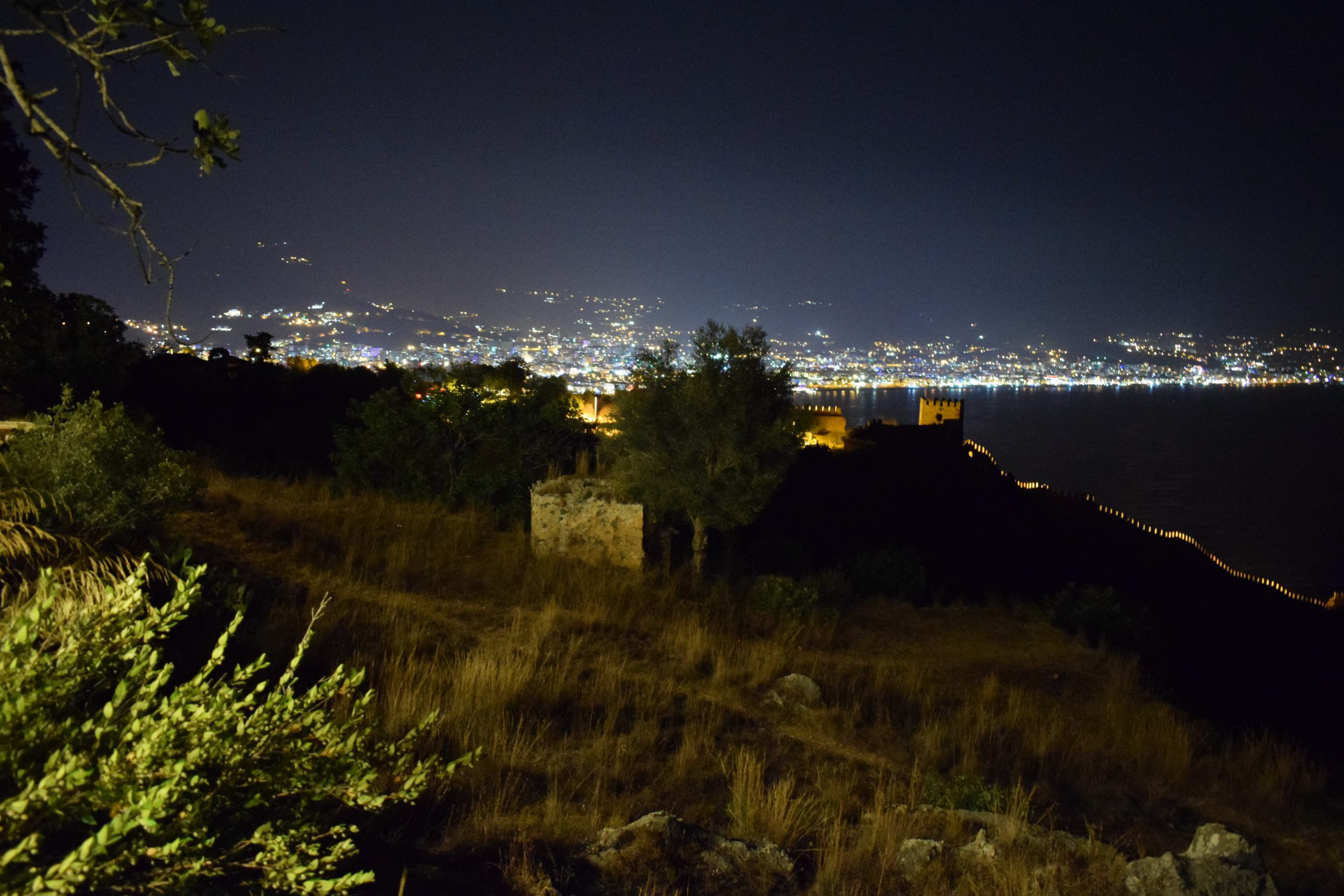 Alanya by night, view from the top